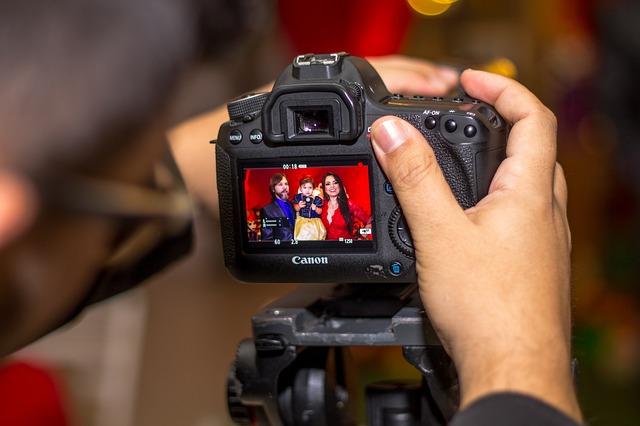 obrazovka fotoaparátu