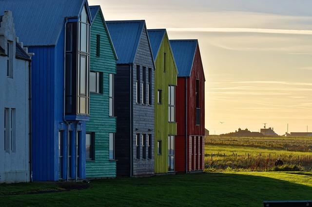 barevné řadové domky